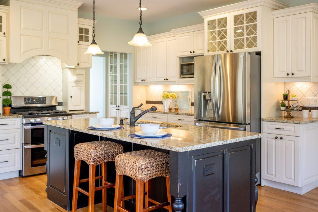 staged kitchen in home