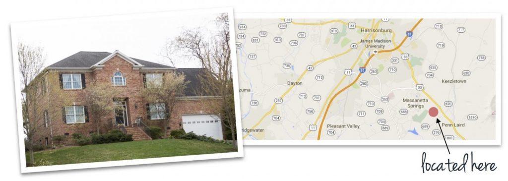 battlefield estates house and map of neighborhood location