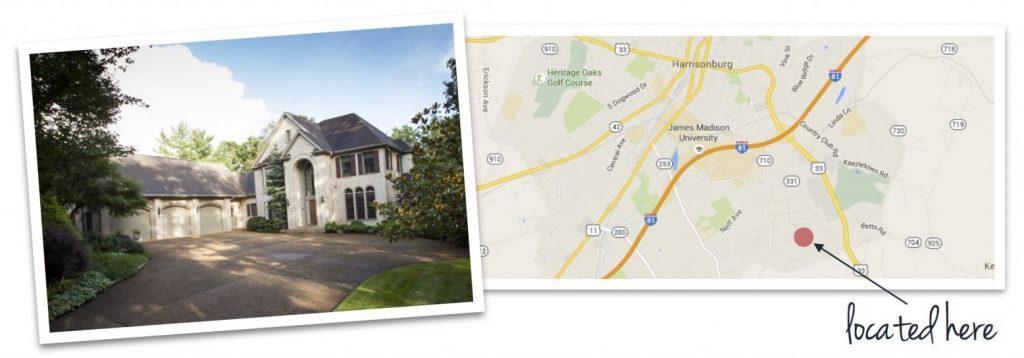 bluestone hills house and map of neighborhood location
