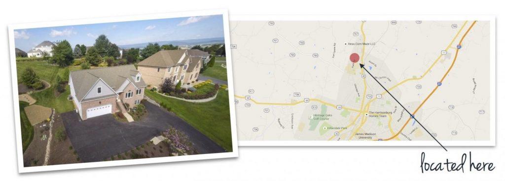 harmony heights house and map of neighborhood location