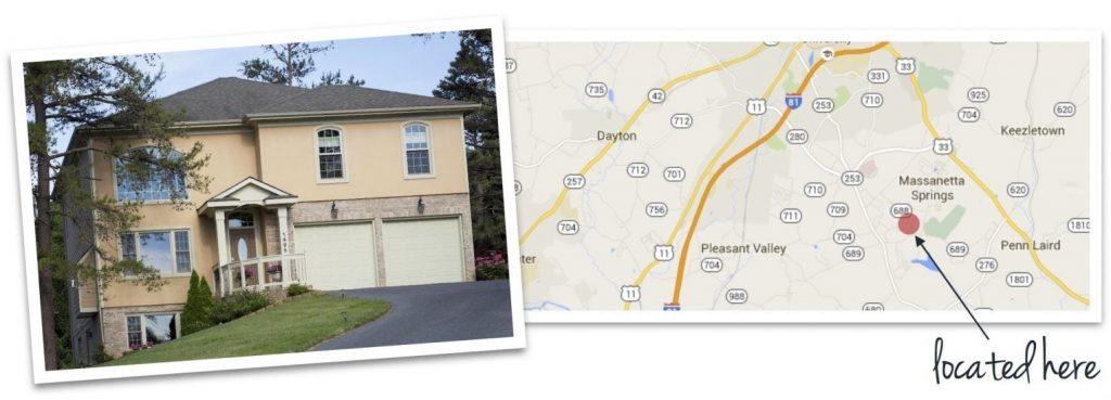 lakewood house and map of neighborhood location