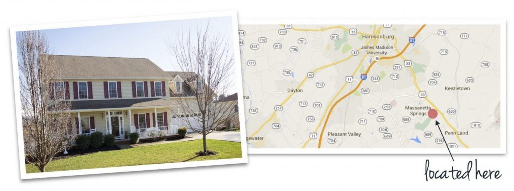 Madison Village house and map of neighborhood location