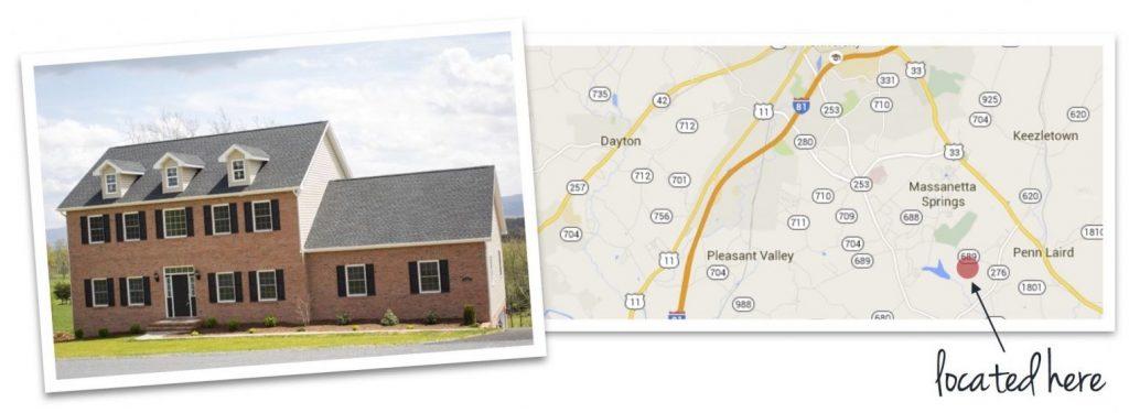 Magnolia Ridge house and map of neighborhood location