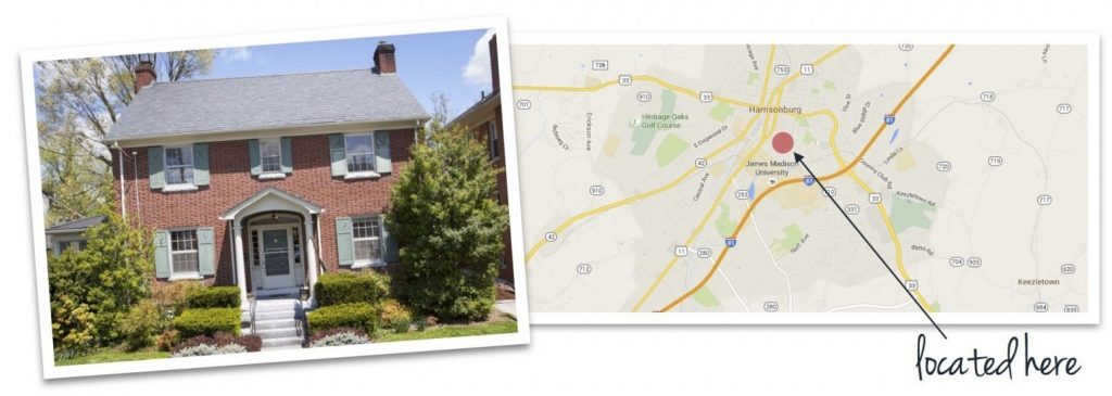old town house and map of neighborhood location