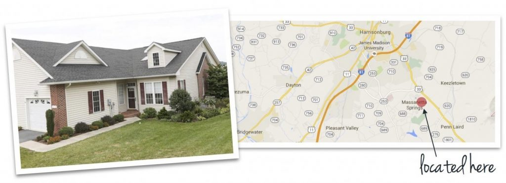 spring oaks house and map of neighborhood location