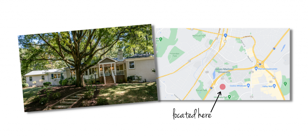 Forest Hills house and map of neighborhood location